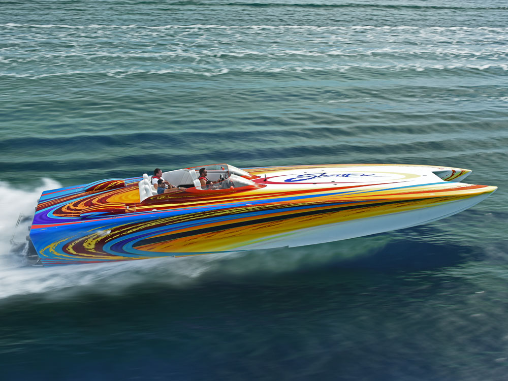 Yacht Charters of Miami. Yacht Charters in Miami. 46' Skater Speed Boat