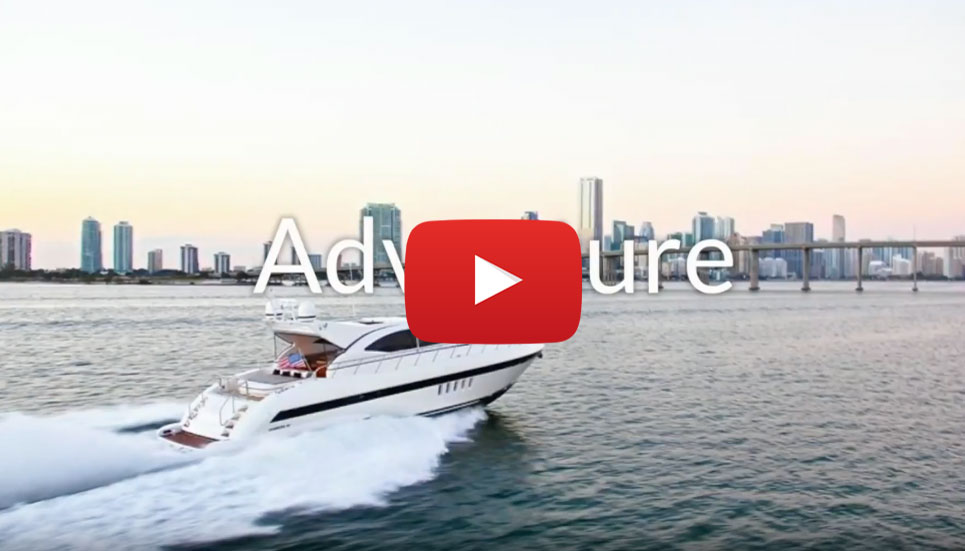 72' Mangusta YCM. Yacht Charters of Miami