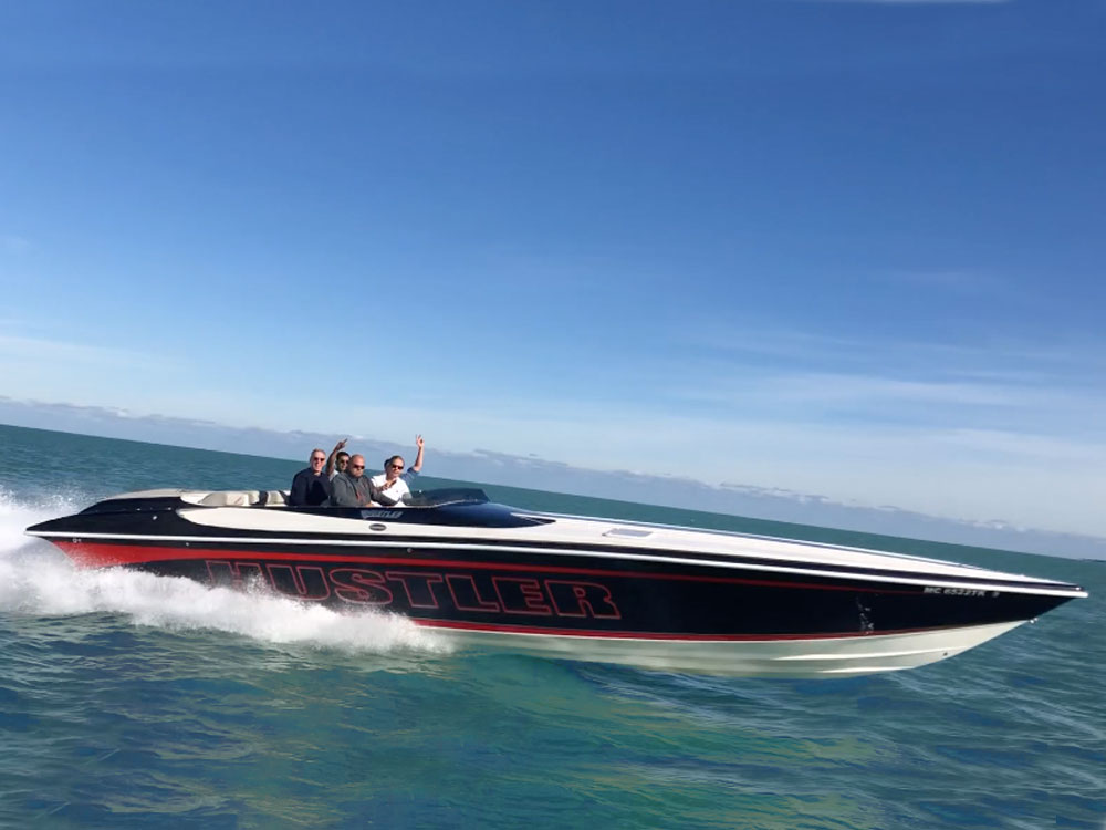 Yacht Charters of Miami. Yacht Charters in Miami. 39' Hustler Speed Boat