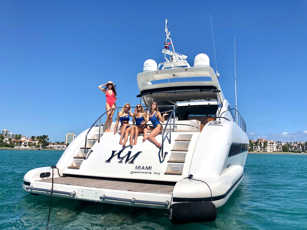 Yacht Charters of Miami. Yacht Charters in Miami. 72' Mangusta YCM
