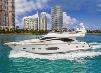 84' Joyce Flybridge Yacht Charters of Miami