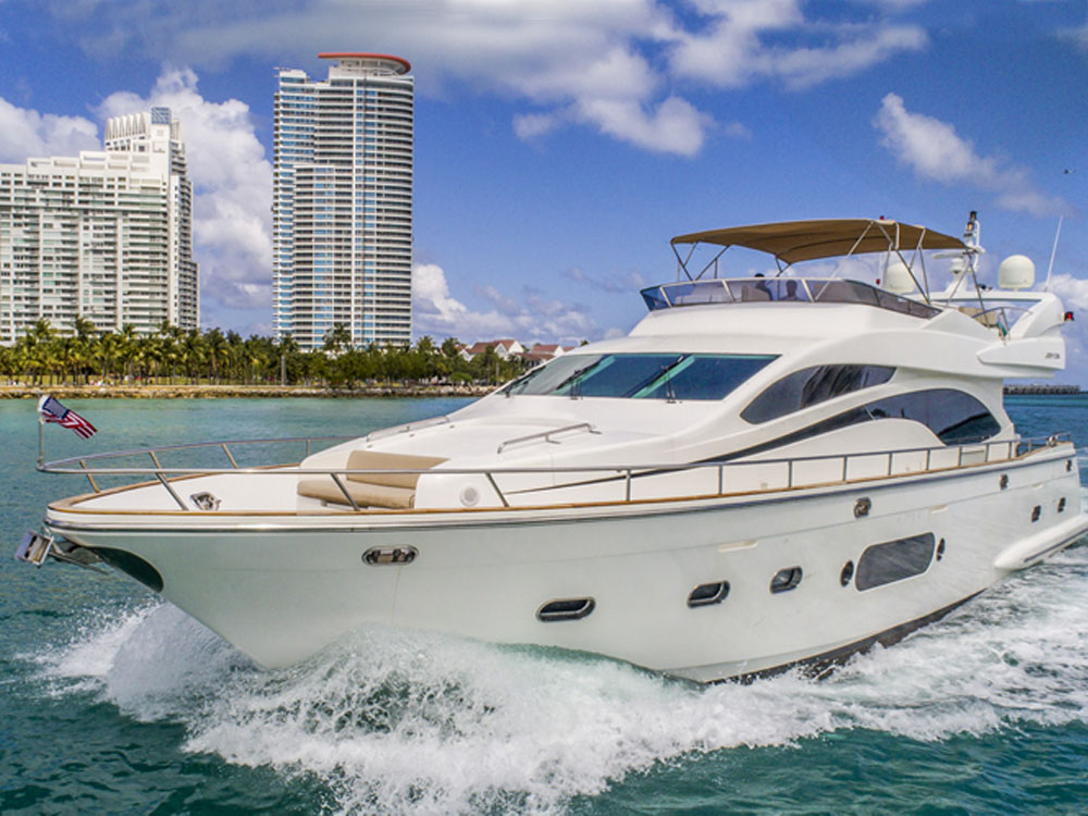 Yacht Charters of Miami. Yacht Charters in Miami. 84' Joyce Flybridge
